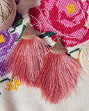 Desert Fringe Earrings in Pink: Alternate View #3