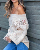 Frost & Ash Sweater in Cream: Alternate View #1