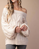 Frost & Ash Sweater in Cream: Alternate View #4
