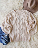 Frost & Ash Sweater in Cream: Alternate View #2