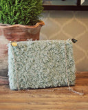Frosted Sage Clutch: Alternate View #1