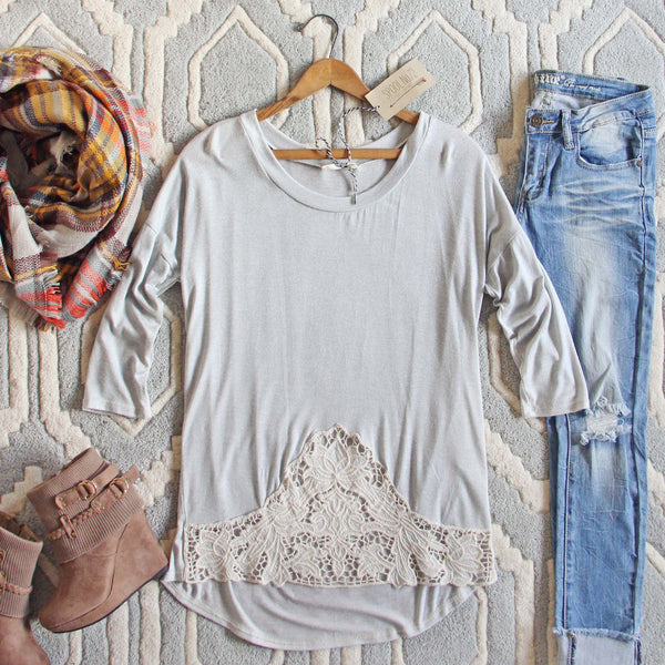 The Frosty Lace Tee: Featured Product Image
