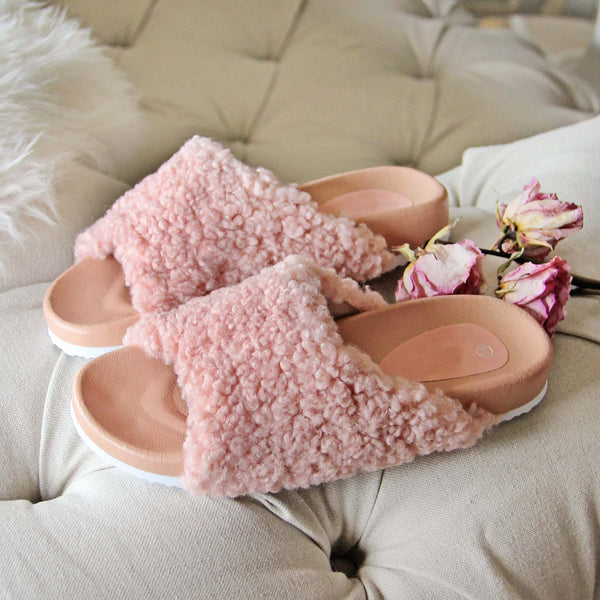 Fuzzy Pink Slides: Featured Product Image
