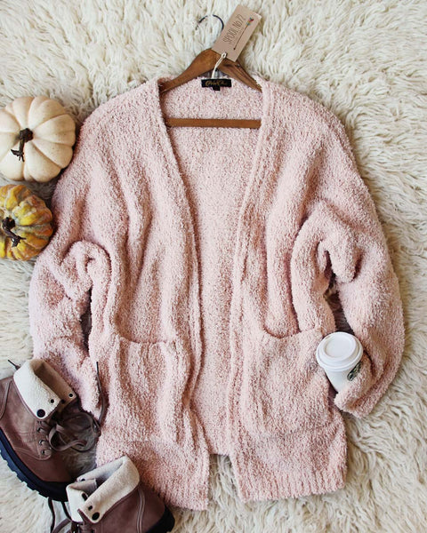 Fuzzy Wuzzy Cardigan in Pink: Featured Product Image