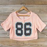 70's Jersey Tee in Peach: Alternate View #2
