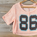 70's Jersey Tee in Peach: Alternate View #3
