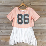 70's Jersey Tee in Peach: Alternate View #1