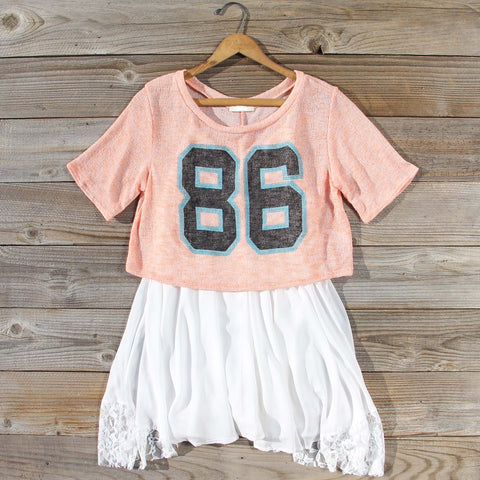 70's Jersey Tee in Peach
