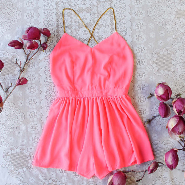 Ancient Rose Romper in Pink: Featured Product Image
