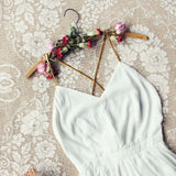 Ancient Rose Romper in White: Alternate View #2
