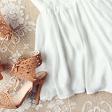 Ancient Rose Romper in White: Alternate View #3