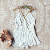 Ancient Rose Romper in White: Alternate View #4