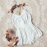 Ancient Rose Romper in White: Alternate View #1