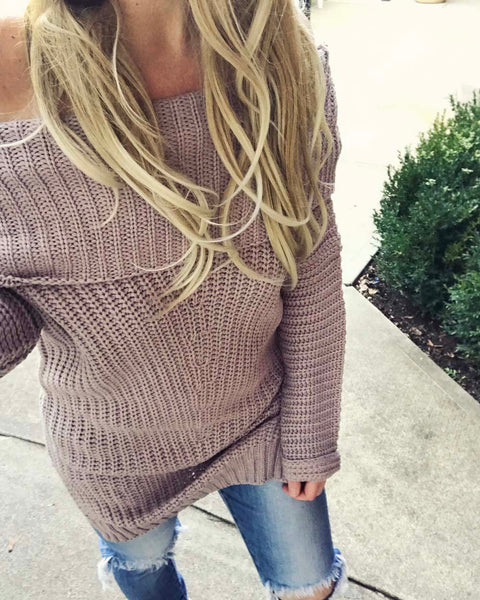 Gemma Knit Sweater in Mauve: Featured Product Image