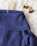 Gemma Knit Sweater in Navy: Alternate View #3