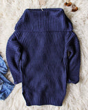 Gemma Knit Sweater in Navy: Alternate View #4