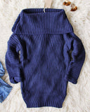 Gemma Knit Sweater in Navy: Alternate View #1