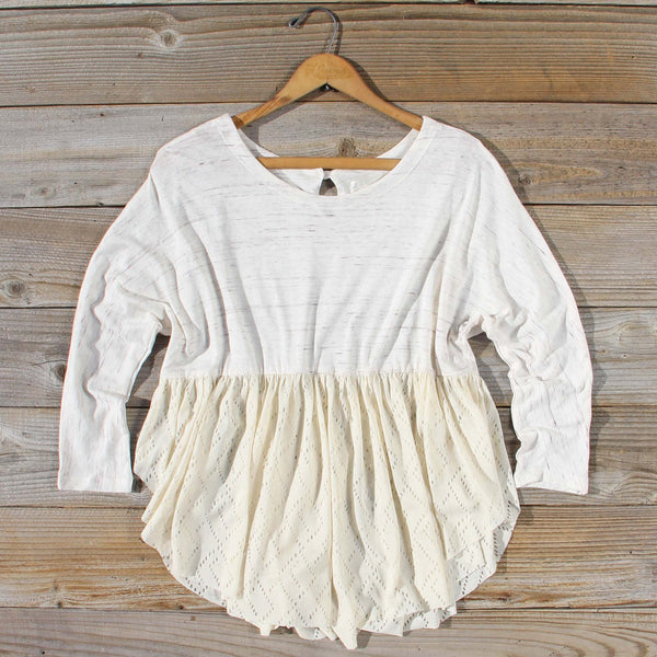 Gentry Lace Tunic in Sand: Featured Product Image