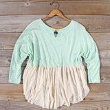 Gentry Lace Tunic in Mint: Alternate View #4