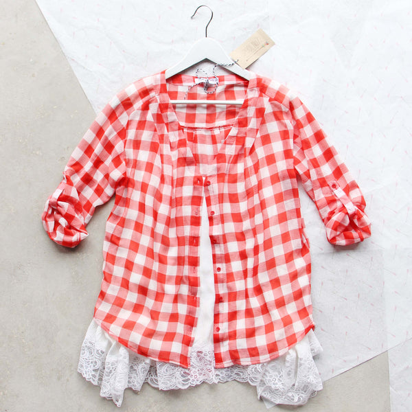 Gingham & Aspen Top: Featured Product Image