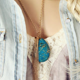 Glacier Stone Necklace: Alternate View #2