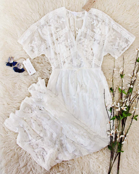 Gold Coast Lace Maxi in White: Featured Product Image