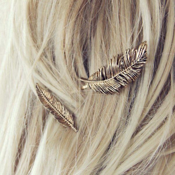 The Golden Feather Hair Pins: Featured Product Image