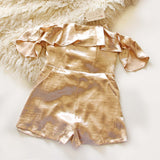 Golden Girl Romper: Alternate View #1
