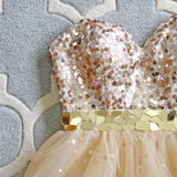 Spool Couture Golden Sparkle Dress: Alternate View #2