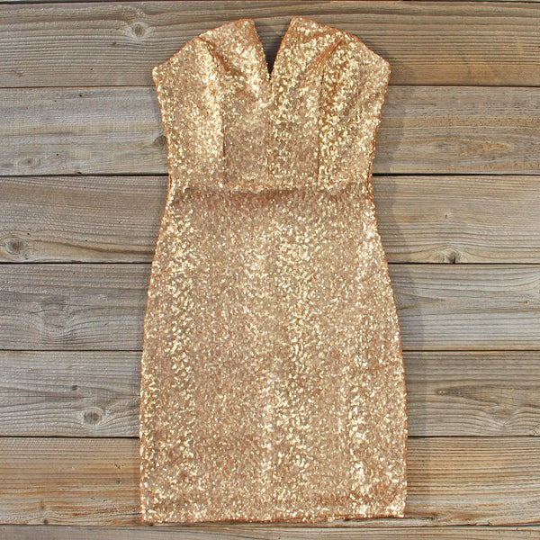 Golden Hearts Party Dress: Featured Product Image