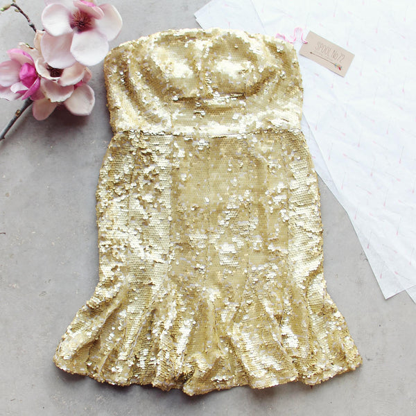 Golden Mermaid Party Dress: Featured Product Image