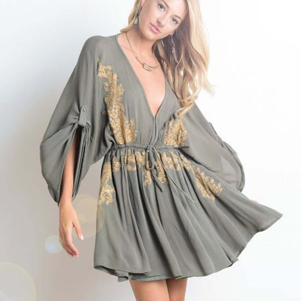 Golden Sage Dress: Featured Product Image