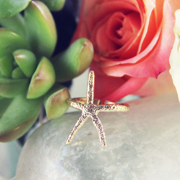 Golden Starfish Ring: Featured Product Image
