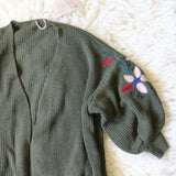 Grandpa Cozy Sweater in Olive: Alternate View #3