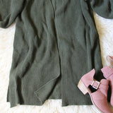 Grandpa Cozy Sweater in Olive: Alternate View #4