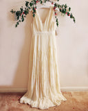 Grecian Lace Dress in Cream: Alternate View #2
