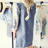 Greek Isles Chambray Dress (wholesale): Alternate View #3