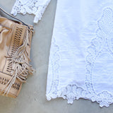 Greek Isles Dress in White (wholesale): Alternate View #3