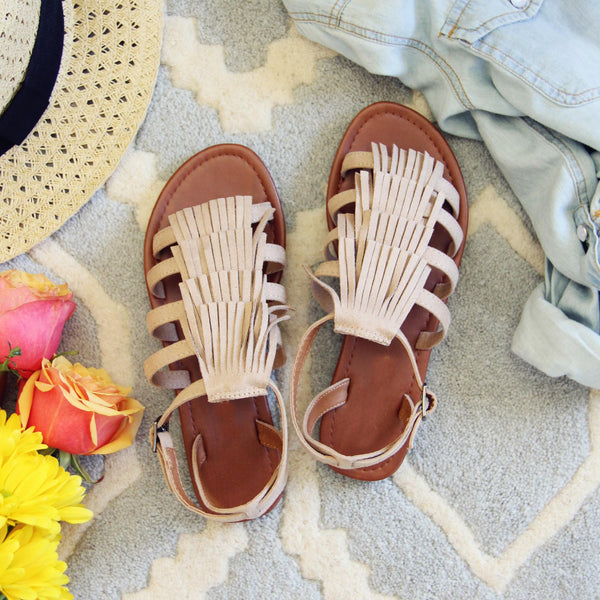Groove Fringe Sandals: Featured Product Image