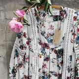 Gypsum Floral Tunic in Sage: Alternate View #2