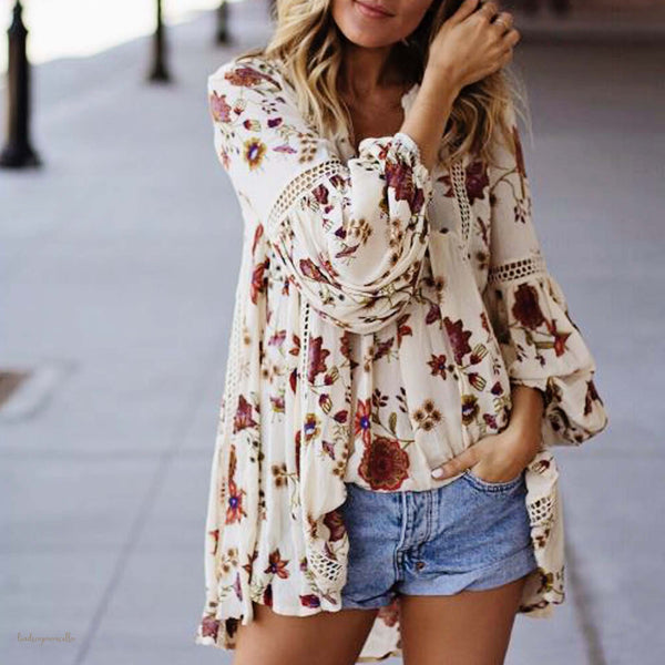 Gypsum Floral Tunic: Featured Product Image