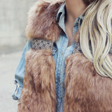 Gypsy Pine Faux Fur Vest: Alternate View #3