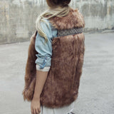Gypsy Pine Faux Fur Vest: Alternate View #4