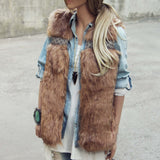 Gypsy Pine Faux Fur Vest: Alternate View #1