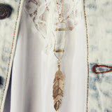Gypsy Crystal Necklace: Alternate View #2