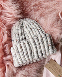 Hand Knit Heart Beanie in Gray: Alternate View #2
