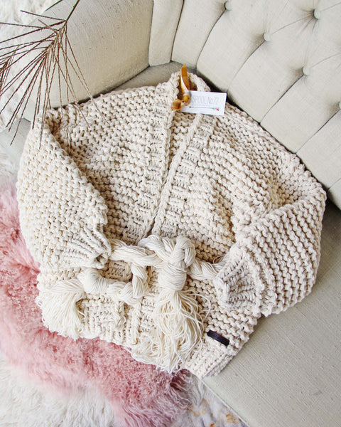 Handknit Braided Sweater: Featured Product Image