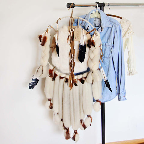 Handmade Large Feather Dreamcatcher