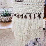 Hand-Woven Wall Hanging in Sand: Alternate View #4