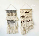 Hand-Woven Wall Hanging in Sand: Alternate View #1